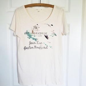 "J.Crew Watercolor ""Art Workshop"" T-shirt"